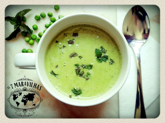 green pea mint soup