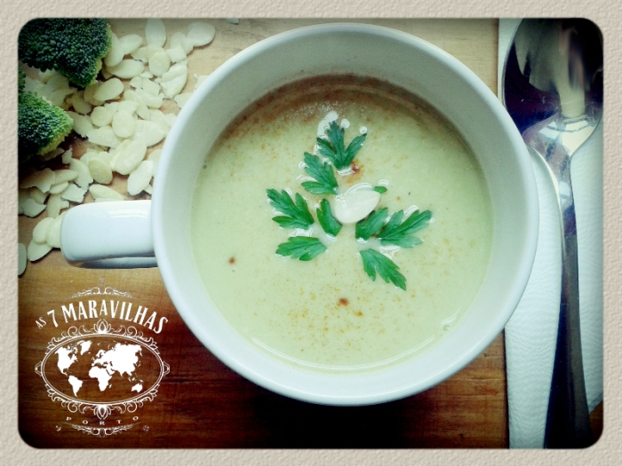 broccolos almonds soup